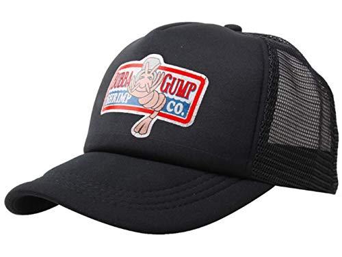 2 Kostüm Cap - qingning Gump Kappe Baseballcap Rot Drucken Hut Snapback Trucker Cap Cosplay Kostüme Zubehör (One Size(58-60cm), Gunm Kappe-Schwarz 2)