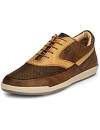 Fentacia Men Brown Laser Sneakers