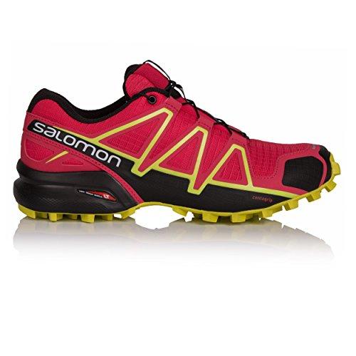 Salomon Damen Speedcross 4 Traillaufschuhe Mehrfarbig (Virtual Pink/Black/Sulphur)