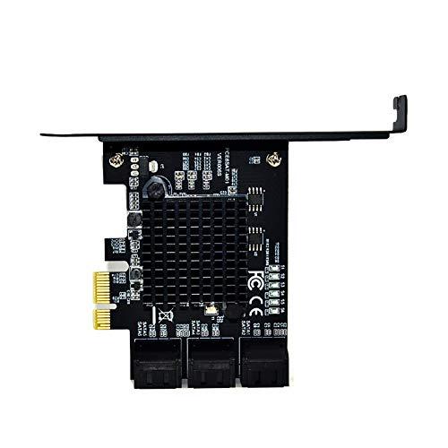 X4 Mit X8-steckplatz (MCLseller Kunststoff-Erweiterungskarte, PCIE-zu-SATA3.0-Controller-Computer 6-Port-6-Gbit/s-Kabel)
