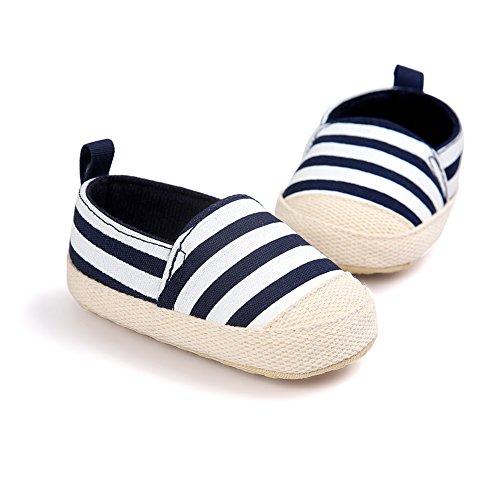 Baby Mädchen weichen Sohle Schuhe Casual Anti-Rutsch Schuhe Lauflernschuhe Krippeschuhe Dunkelblau