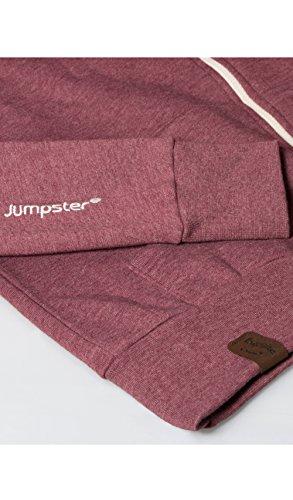 JUMPSTER Sweatjacke EXQUISITE Damen & Herren Zip-Hoodie mit Kapuze, extra weicher Kapuzenpullover MADE IN EU (slim / regular) Exquisite Red