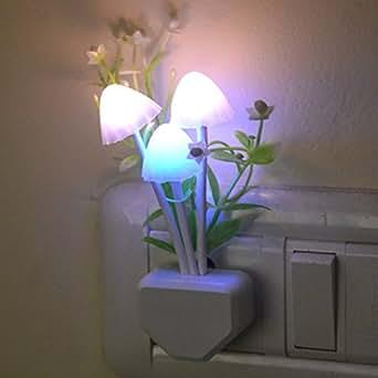 Novicz Mushroom 1-Watt Night Lamp (White)
