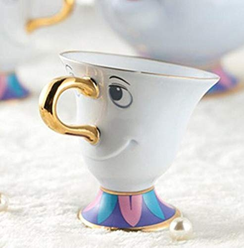 ion Die Schöne und das Biest Teetassen-Set Frau Potts Sohn: Chip Cups Tee-Set Kaffeetasse Lovely Xmas Birthday Gift ()