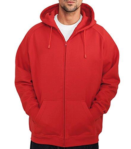 Westminster street classics veste à fermeture éclair plusieurs couleurs taille s à 5XL Rouge - Rouge