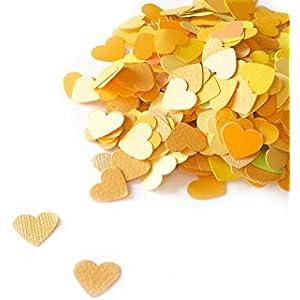 konfetti - Herzform Konfetti - 18 g - Brasilien Farbe (handgemacht Konfetti)