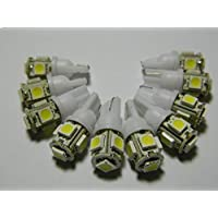 10 Pcs T10 5 SMD LED Bulb White Lamp Backup Parking Light for Auto Car Bike