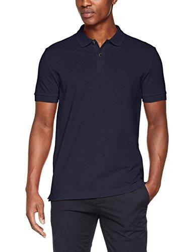 BOSS Herren Piro Poloshirt, Blau (Navy 411), Medium (Herstellergröße: M) (Shirt Blau Navy Herren)