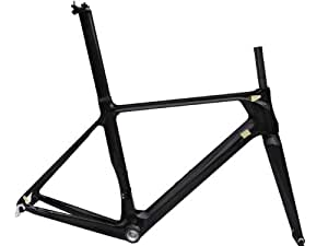 3K Full Carbon Glossy Road Bike Bicycle Frameset : 54cm Frame Fork Seatpost Clamp