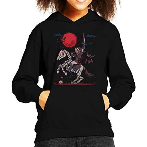 The Red Moon Rises Halloween Legend of Zelda Kid's Hooded Sweatshirt (De Halloween-komödie Filme)