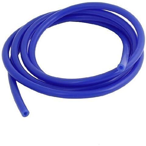 2 Medidor Azul Vacío De Silicona Tubo Manguera 4mm ID 8mm OD para coche
