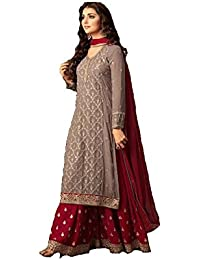 f2eb45c4b Generic Women s Georgette Plazzo Style Embroidered Fabric Suit (LNF078
