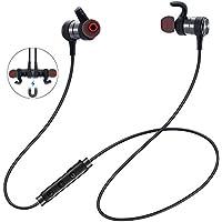 Bluetooth Kopfhörer, ER-ESTAVEL 4.1 in-Ear Wireless Headset mit Magnet Wireless Ohrhörer Stereo IPX5 Wasserdicht Level Sportkopfhörer mit Mikrofron für Alle Bluetooth-Gerät(Schwarz)