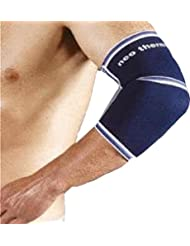 Neo Therm codera deportes lesiones protección elástica correa de alivio del dolor, color azul, tamaño small