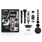 stylPro Glitter Geschenkset – Glitter stylPro Make-up-Pinsel-Reiniger & Trockner, 2 schwarze StylPro Make-up-Pinsel und 150 ml StylPro Make-up-Pinsel-Reiniger.