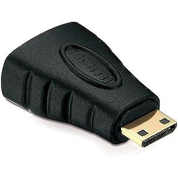 deleyCON HDMI zu mini HDMI Adapter - HDMI Buchse zu mini HDMI Stecker [ vergoldete Kontakte ]