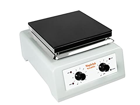 MAPLE SCIENTIFIC UK , NEW HOTPLATE / STIRRER CERAMIC TOP ONLY £199.00 !!! , HOT PLATE , MAGNETIC , TOP TEMPERATURE 500 DEGREES !! , FULLY ADJUSTABLE HEAT AND STIR HOT PLATE , MAGNETIC , AND ON THE PLUS SIDE IT IS SAFE UNLIKE MOST SOLD ON AMAZON !!