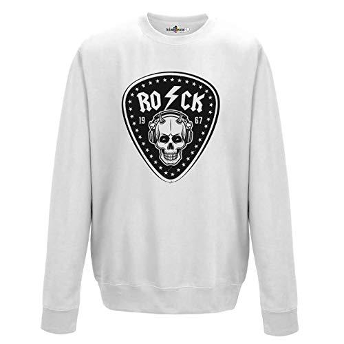 KiarenzaFD Musica Hard Rock Heavy Metal AC/DC Totenkopf Old School Thunder, KFG02173-XL-white, weiß, XL - Pantera-metal-skull T-shirt