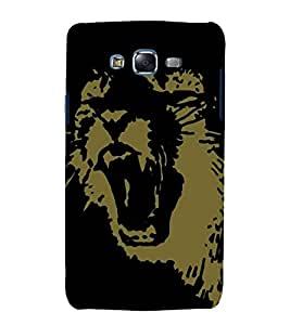 printtech Lion Animal Abstract Pattern Back Case Cover for Samsung Galaxy J7 (2016 EDITION)