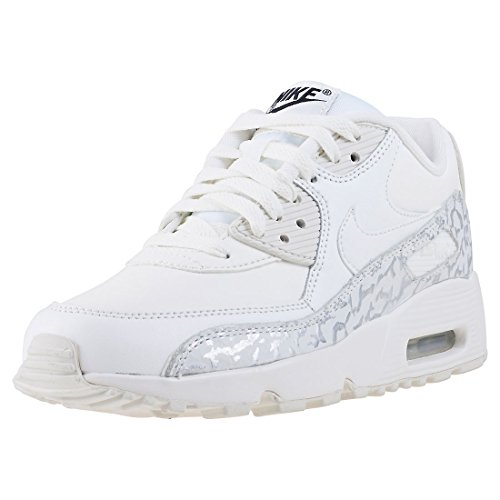 Nike , Mädchen Sneaker weiß Summit White/Black/Metallic Silver/Summit White, Gr. 38 (5 UK)