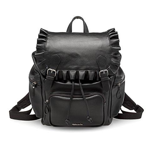 TAMARIS ROANA, Marcel Ostertag Kollektion, Damen Handtasche, Backpack, Rucksack, 38x40x19 cm (B x H x T), schwarz Schwarz