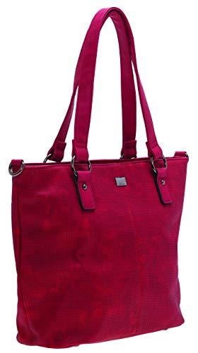 BERNARDO BOSSI Crossover Damen große Tasche Shopper Hobo Bag Schultertasche Frauen Umhängetasche verschiedene Modelle (M2 Rot)