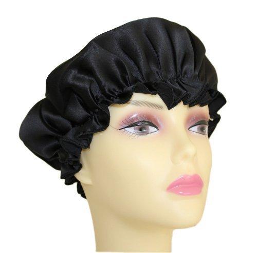 pura-seda-casquillo-del-sueo-sleeping-gorra-sombreros-pauelo-negro