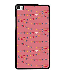 printtech Abstract Lines Design Back Case Cover for Huawei P8