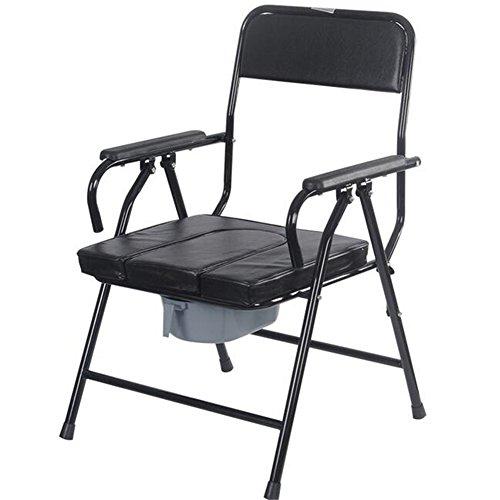 WYF Älterer Toiletten-Stuhl, der Mobilen Örtlich Festgelegten Höhen-Toiletten-Sitz mit Duschstuhl-Badezimmer-Töpfchen-Sitz Für Alten Mann-Schwangeren Frauen Faltet
