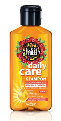Haarwäsche Tutti Frutti Cranberry & Argan Öl Shampoo 100 ml, Eigenschaften: glättet, reinigt, Glanz, Leichtigkeit und Kämmbarkeit