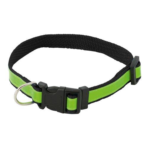 Hohe Sichtbarkeit Sicherheit Hundehalsband - fluoreszierende reflektierende verstellbare Kragen (schwarz) -