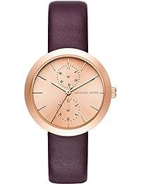 8fec6918e44c5 Michael Kors Reloj Analógico para Mujer de Cuarzo con Correa en Cuero MK2575