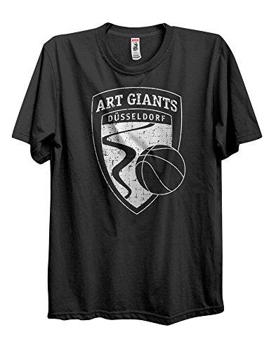 ART Giants Düsseldorf T-Shirt Basketball.Logo Vintage Design in 100% Baumwolle (XL) -