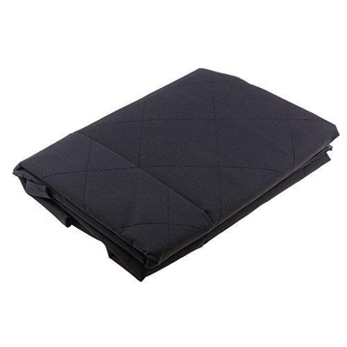 Autos-Haustier-hinterer Rücksitz-Abdeckung Schwarz farbig Matte (Baumwolle Gesteppte Kissen-abdeckungen)