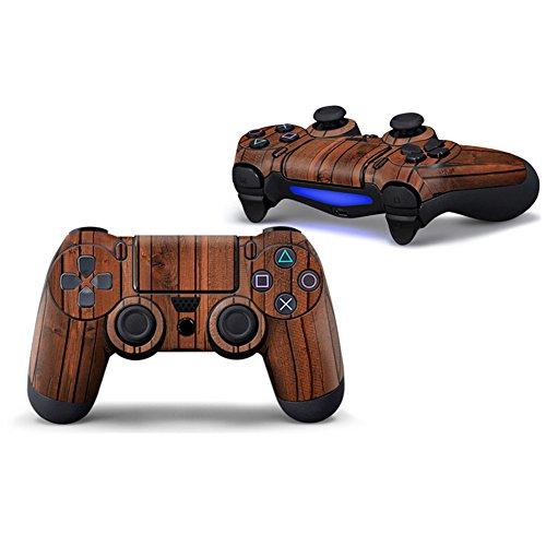 Morbuy PS4 Controller Skin Diseñador Piel Pegatina para Sony PlayStation 4 PS4 Slim PS4 Pro DualShock mando inalámbrico x 1 (Wood Red-Brown)