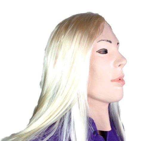 Fetisch Maske menschliche Puppe Latex Filmqualität Transvestit Maskerade Blondes (Transvestit Kostüme)