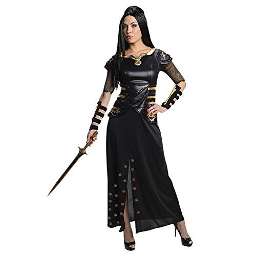 300 Artemisia Rise of an Empire Kostüm 2-tlg Kampf Gewand Kleid Armschienen schwarz - M (Empire Kostüm)