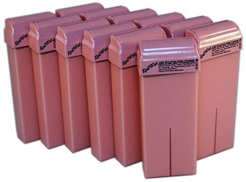CERETTA DEPILAZIONE -Cera depilatoria titanio rosa per depilatore scaldacera profullo- Lotto Da 12 Roll-on