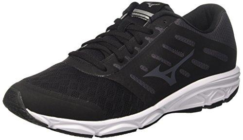 Mizuno Ezrun, Zapatillas de Running para Hombre, Negro (Black/Magnet/White 52), 42 EU