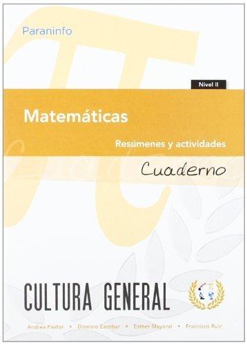 Cuaderno de trabajo. Matemáticas. Nivel 2 (Cultura General)