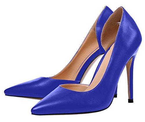 Guoar - Scarpe chiuse Donna (Blau PU)