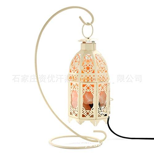 Lampe à sel en cristal Pierre de sel Forme unique Lampe de chevet chambre à coucher Belle cadeau de Noël E14 blanc