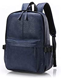 Unisex Leder Rucksack, OURBAG Herren Damen Vintage Lederrucksack Schultertasche für Reise Wandern Reissverschluss
