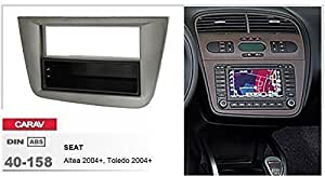 Caravagg 40-158 mascherina autoradio doppio DIN per SEAT Altea - Toledo