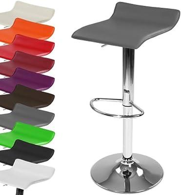 Miadomodo - Taburete de bar silla ajustable en altura y giratorio con reposapies - colores a elegir