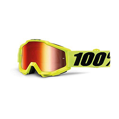 Preisvergleich Produktbild 100% 50210-004-02 Accuri Brille Fluo Gelb - Spiegel Linse, Rot, Größe One Size