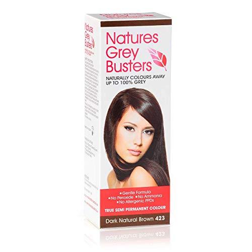 PPD Haarfarbe, Dunkelbraun, ohne Ammoniak, ohne Peroxide, die natürliche, sichere Möglichkeit, um graue Haare zu färben. (Semi Permanent Color) 70 ml -