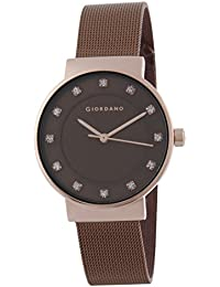 Giordano Analog Brown Dial Women's Watch - A2062-55