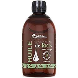 Huile de Ricin - 500ml - 100% pure, Non-raffinée et Pressée à froid.