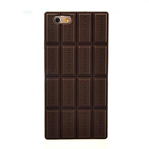 PTitanMantisP Personnage intéressant de type plaque silicone chocolat coque (iPhone 5/5S,Brun)